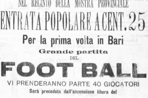 Per la prima volta in Bari grande partita del Football