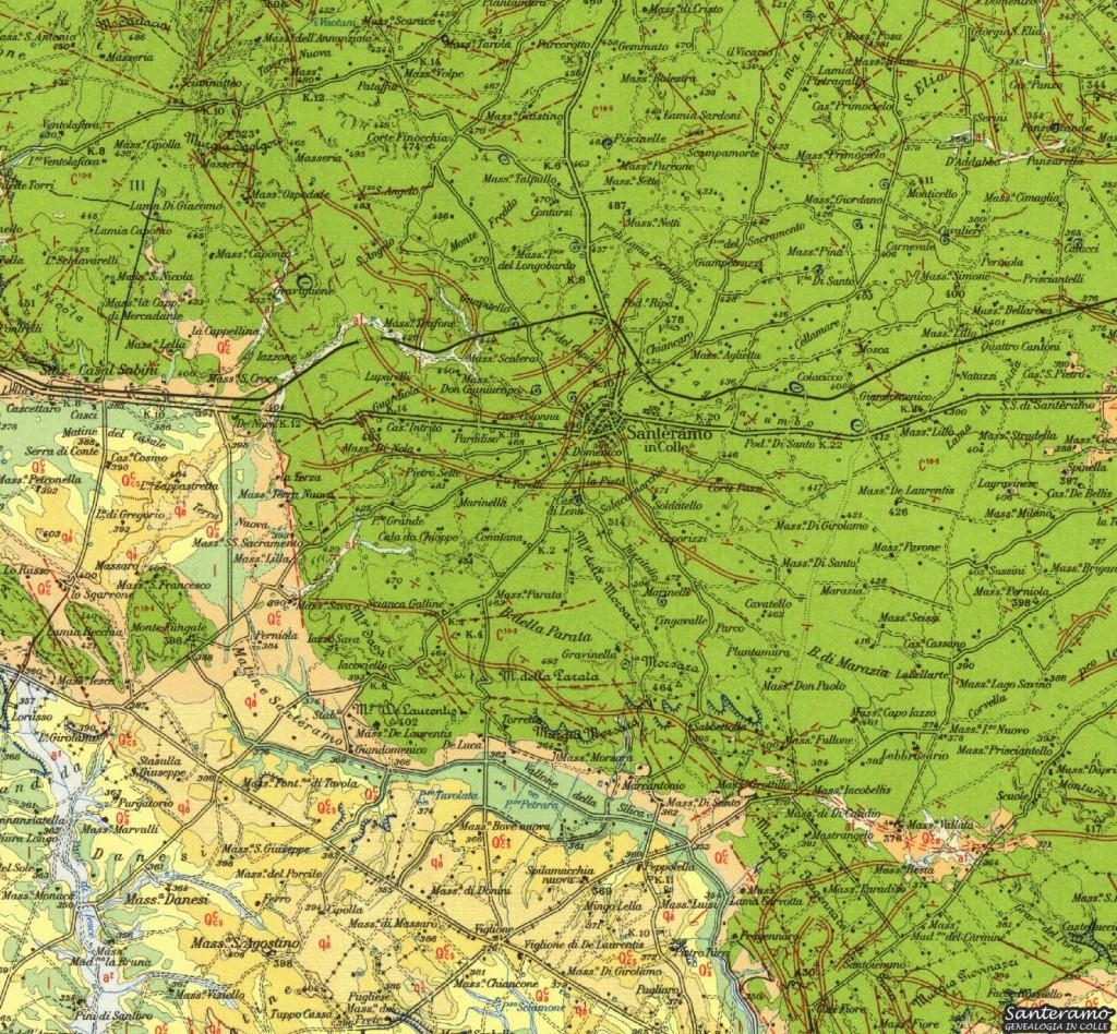 Carta Geologica d'Italia, Foglio 189, dettaglio