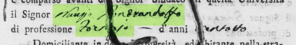 Atto di nascita di Francesco Giuseppe Erasmo Gaetano Pontrandolfo del 1809