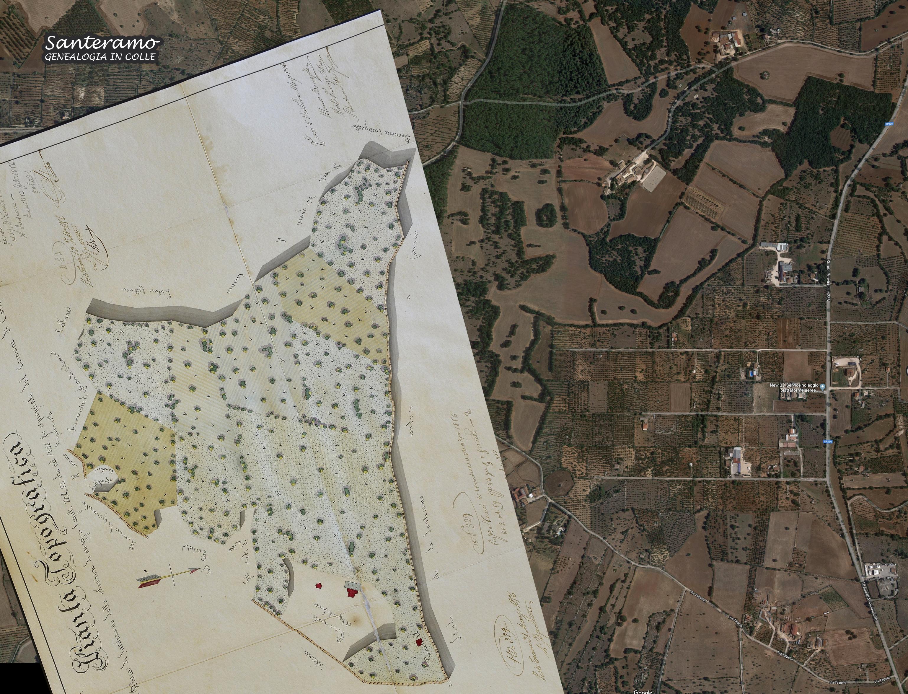 Puglia Cartina Stradale E Visione Satellitare.Category Mappe Santeramo Genealogia In Colle